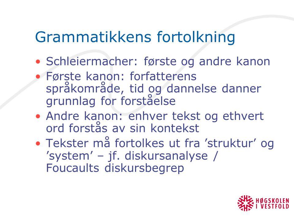 Grammatikkens fortolkning
