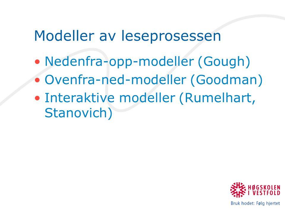 Modeller av leseprosessen