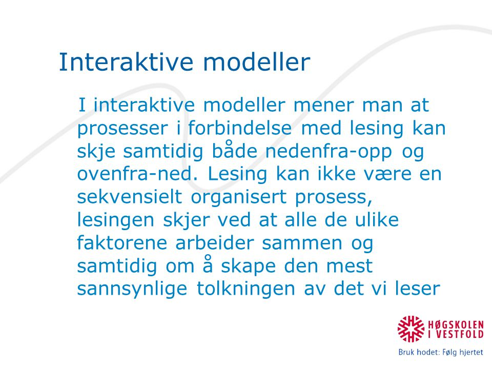 Interaktive modeller