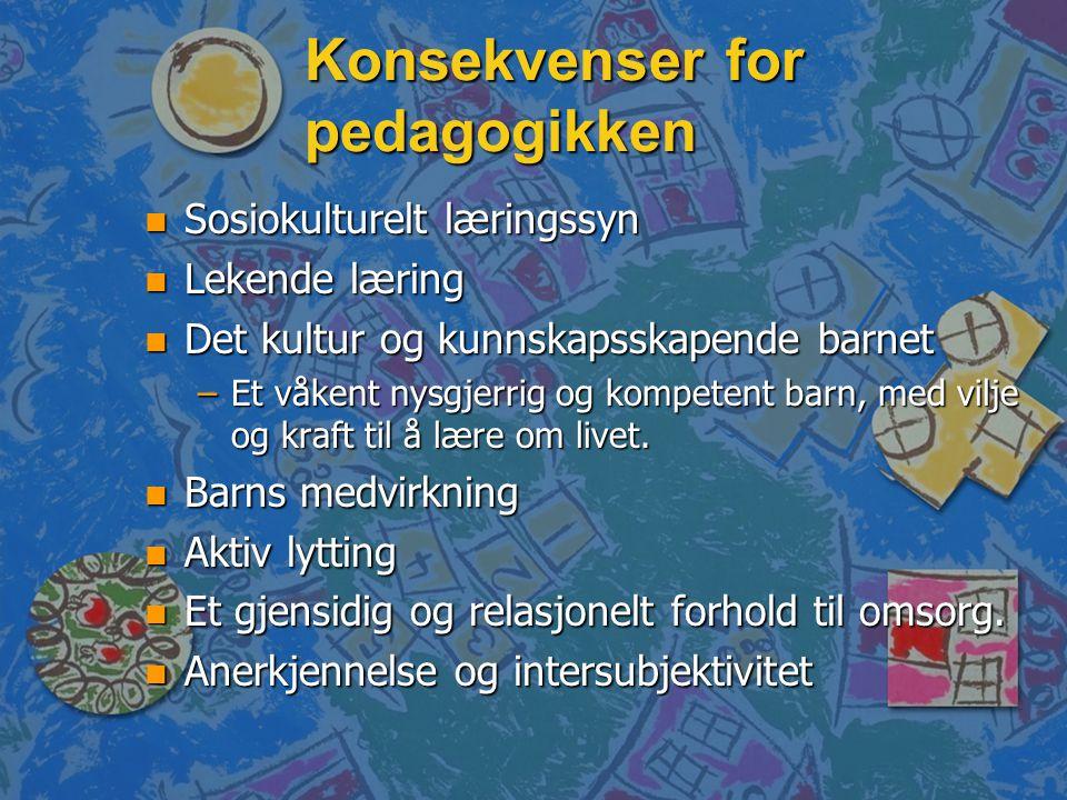 Konsekvenser for pedagogikken