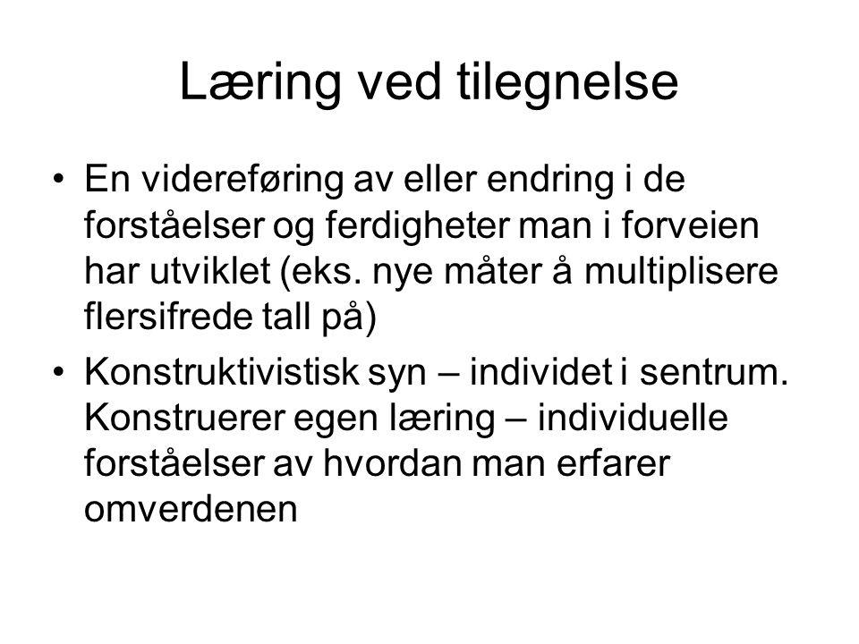 Læring ved tilegnelse