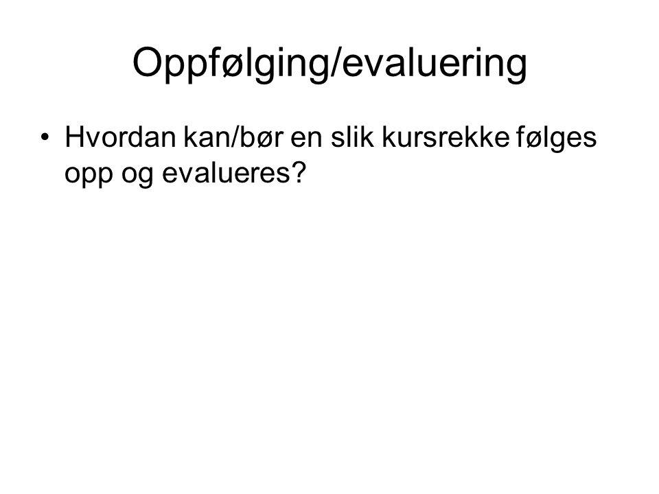 Oppfølging/evaluering
