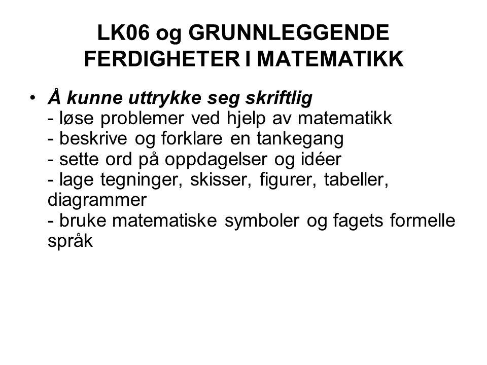 LK06 og GRUNNLEGGENDE FERDIGHETER I MATEMATIKK