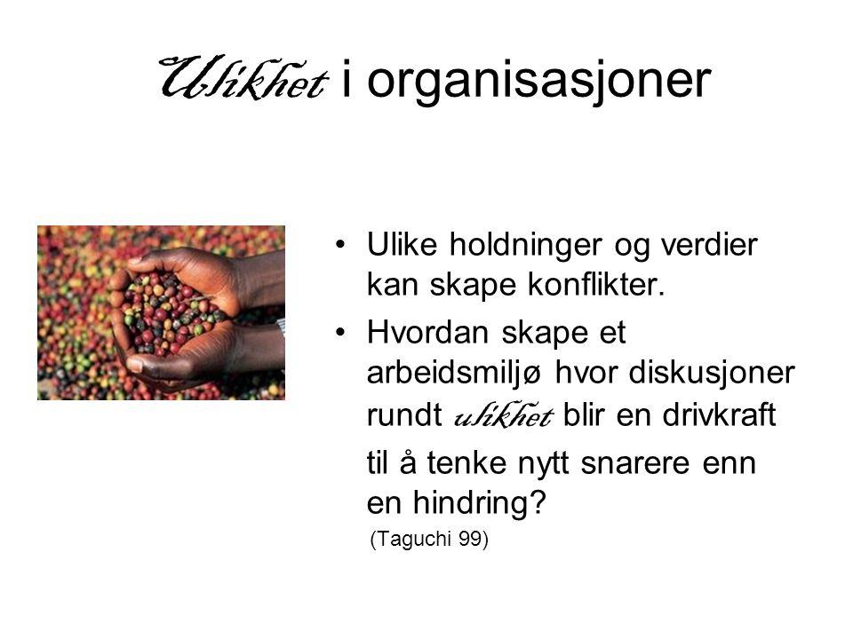 Ulikhet i organisasjoner
