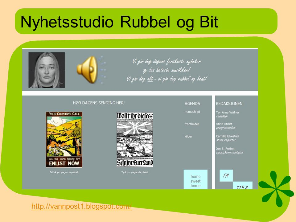 Nyhetsstudio Rubbel og Bit
