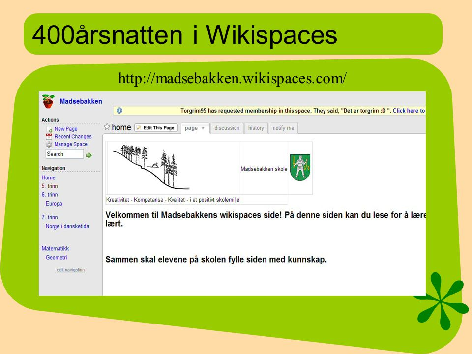 400årsnatten i Wikispaces