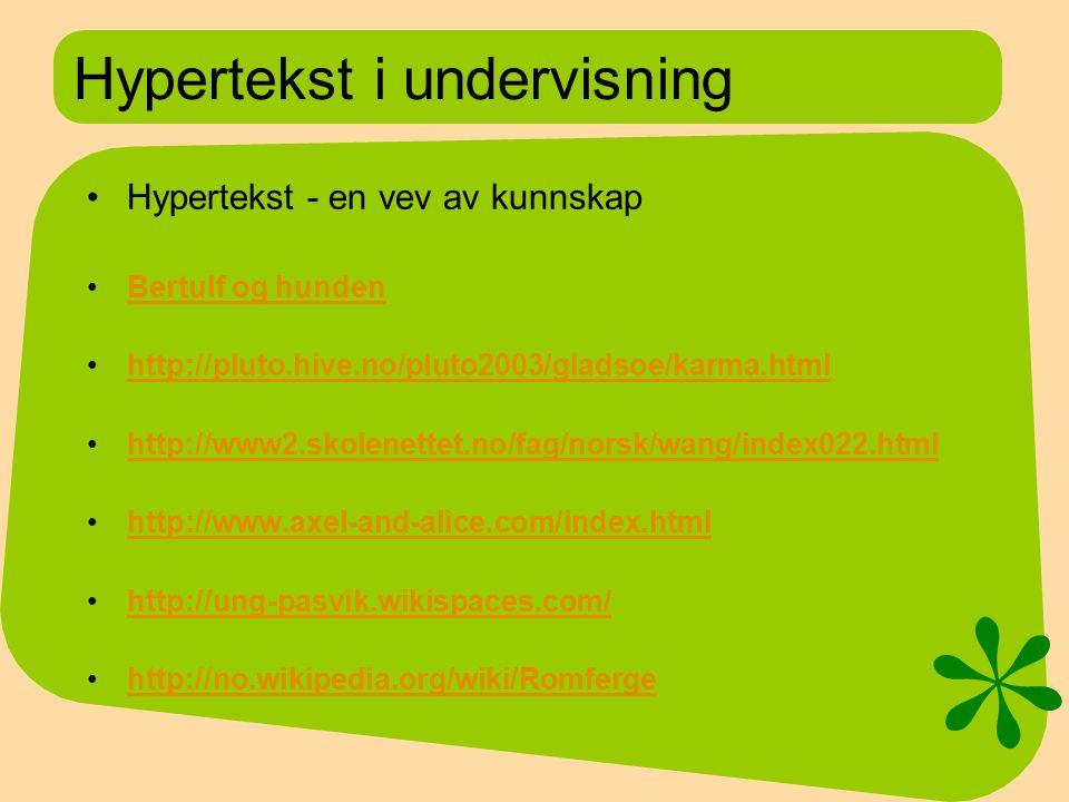 Hypertekst i undervisning
