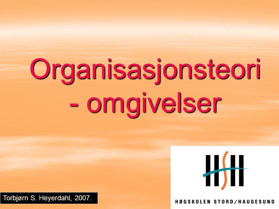 Organisasjonsteori - omgivelser