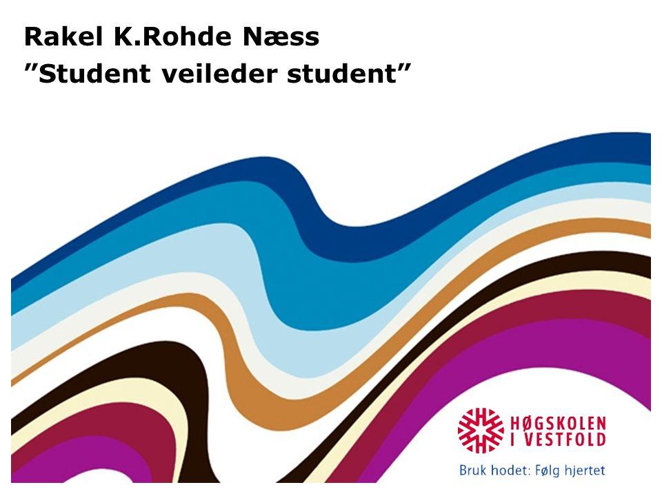 Rakel K.Rohde Næss Student veileder student