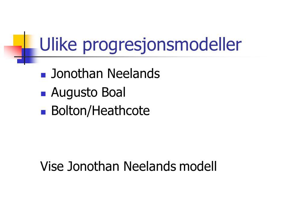 Ulike progresjonsmodeller