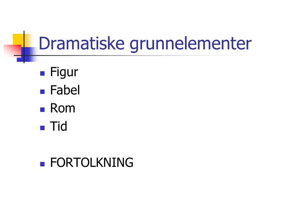 Dramatiske grunnelementer