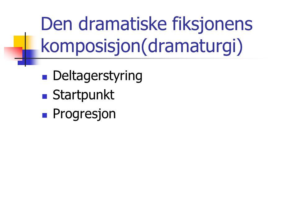 Den dramatiske fiksjonens komposisjon(dramaturgi)