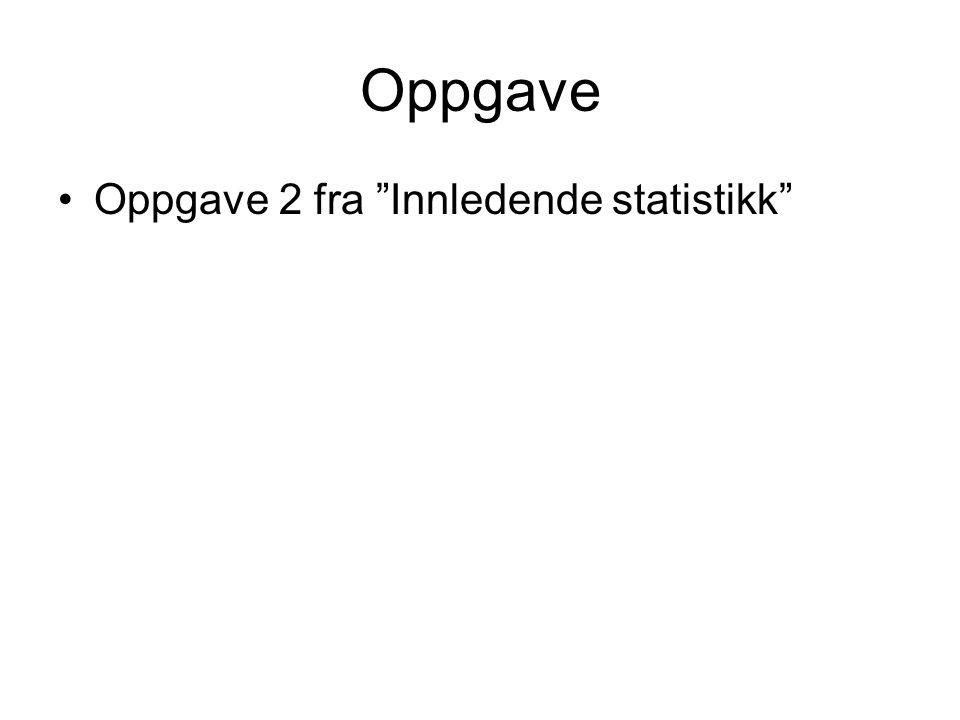 Oppgave Oppgave 2 fra Innledende statistikk