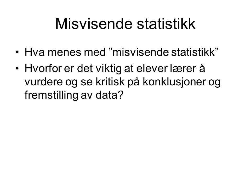 Misvisende statistikk