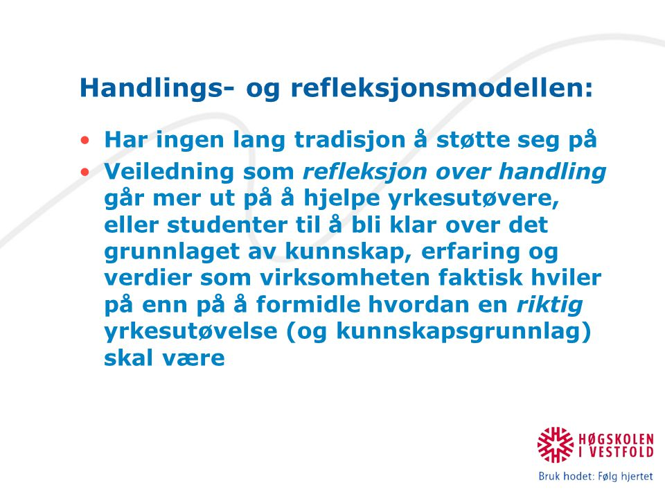 Handlings- og refleksjonsmodellen: