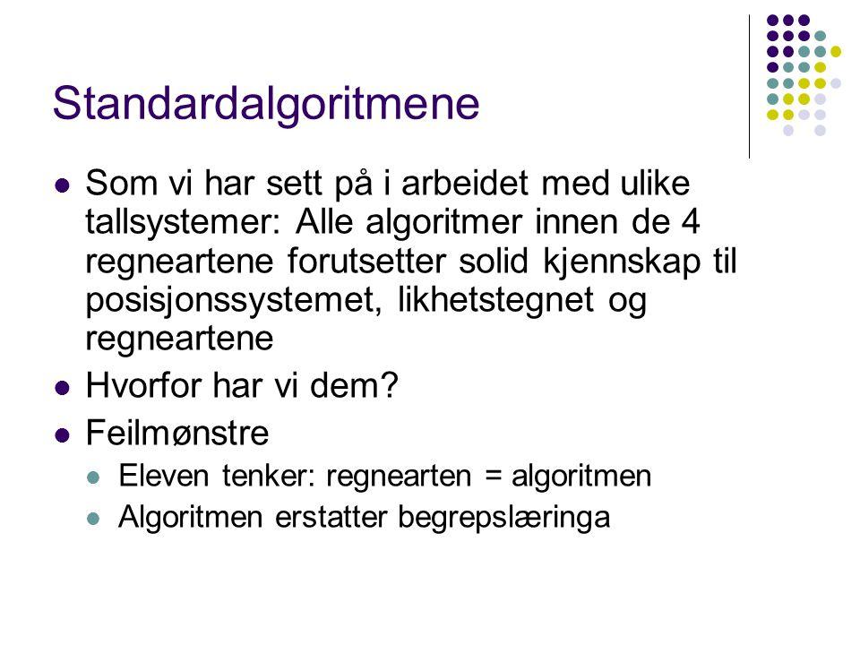 Standardalgoritmene