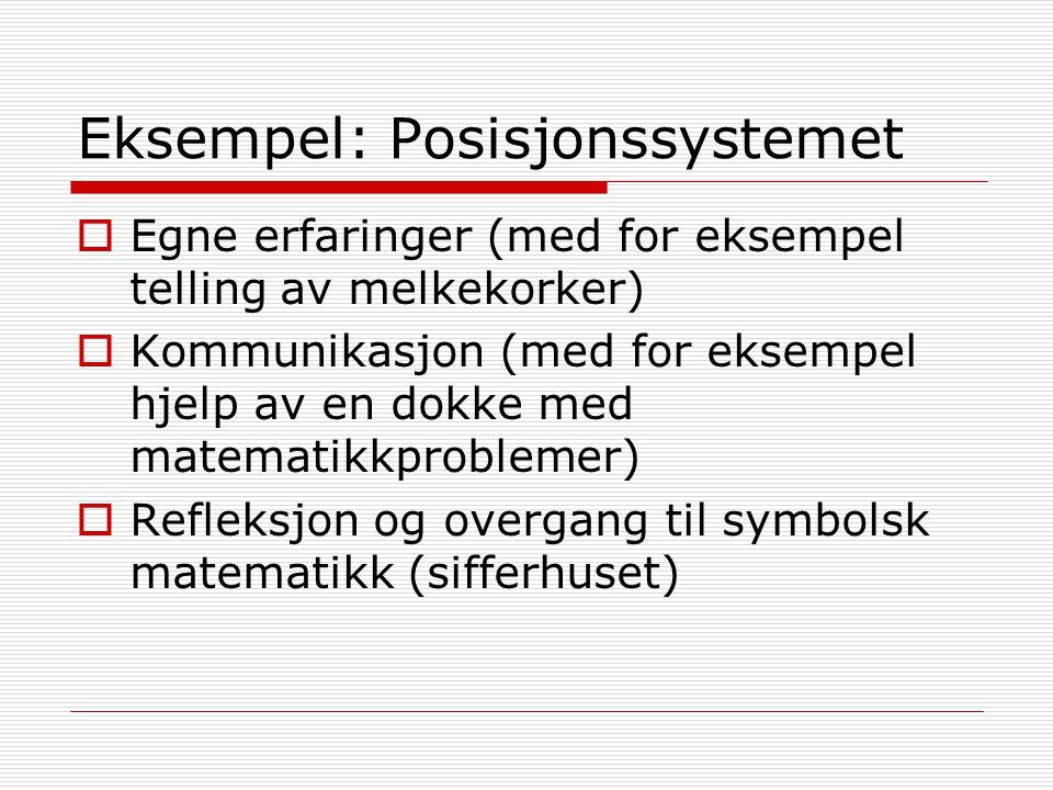 Eksempel: Posisjonssystemet