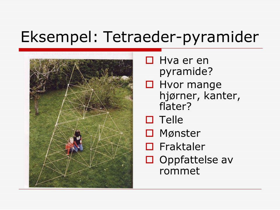 Eksempel: Tetraeder-pyramider