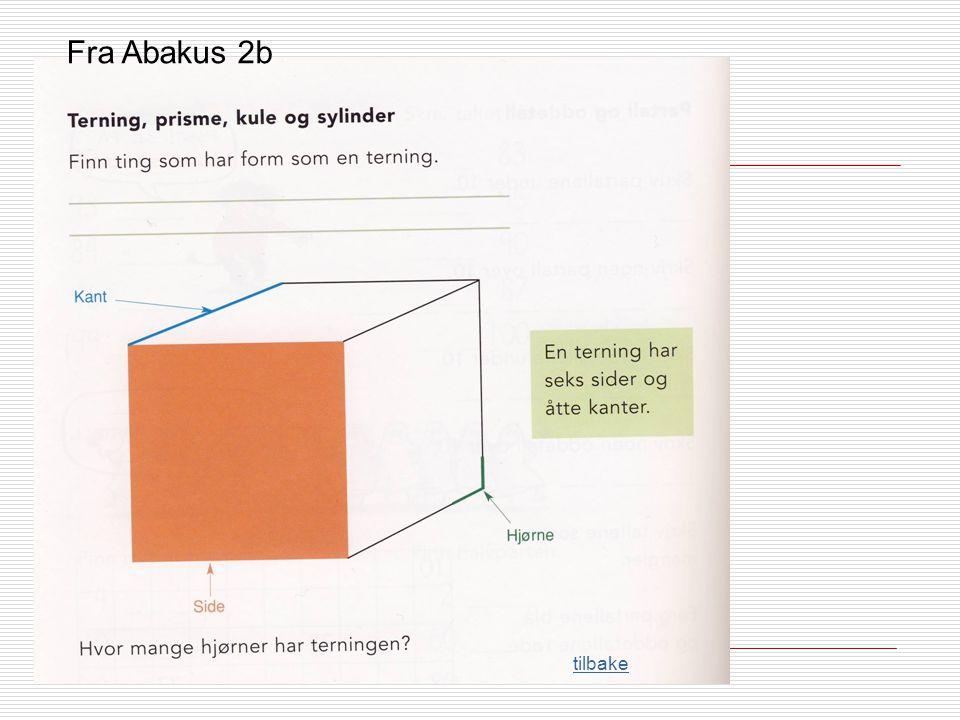 Fra Abakus 2b tilbake Enhet med flere meningsskapende ressurser: