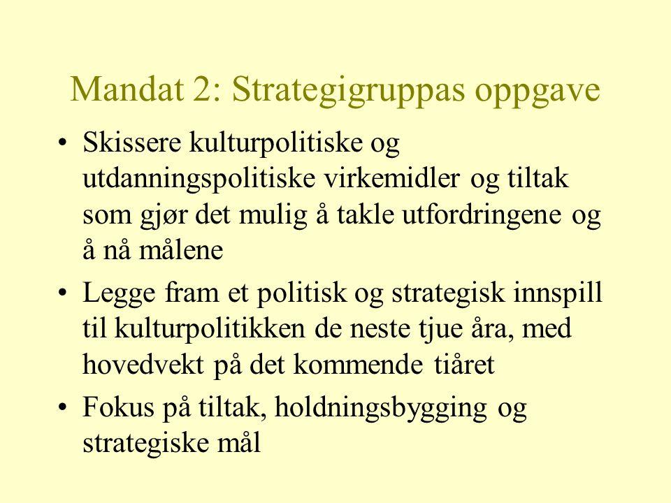 Mandat 2: Strategigruppas oppgave
