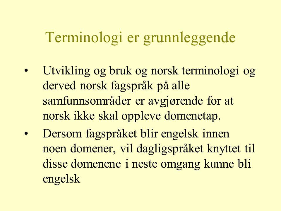 Terminologi er grunnleggende