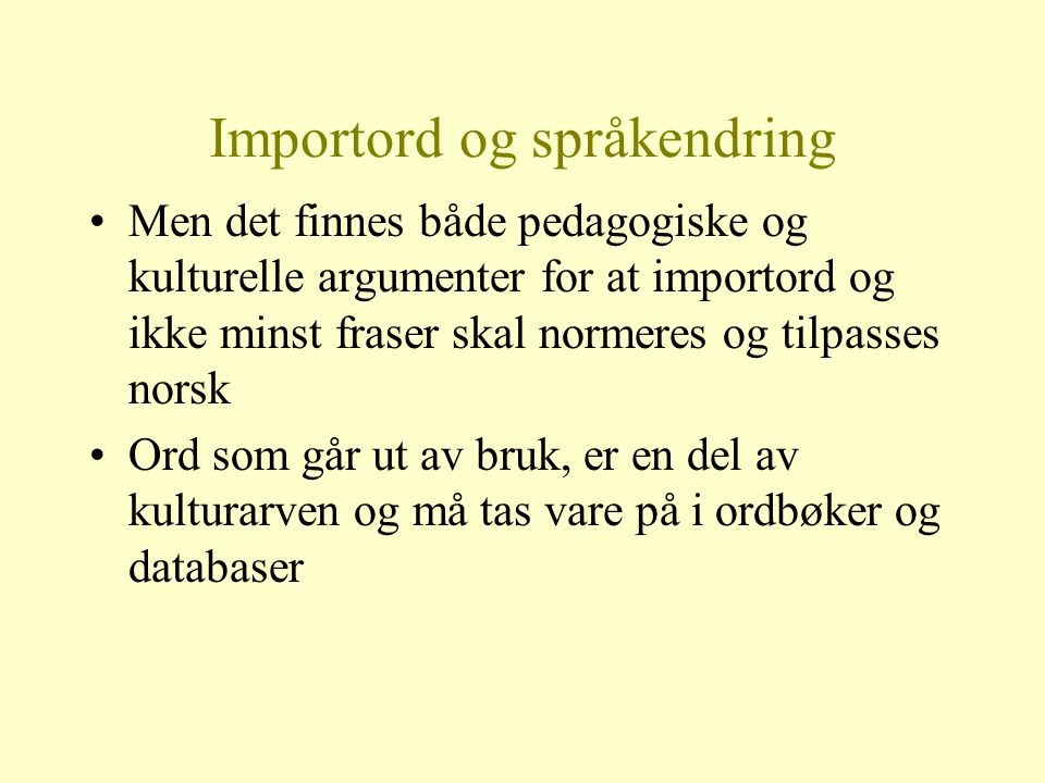 Importord og språkendring