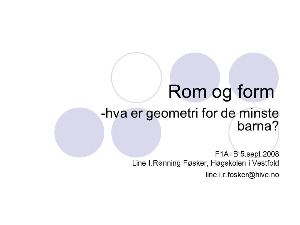 Rom og form -hva er geometri for de minste barna F1A+B 5.sept 2008
