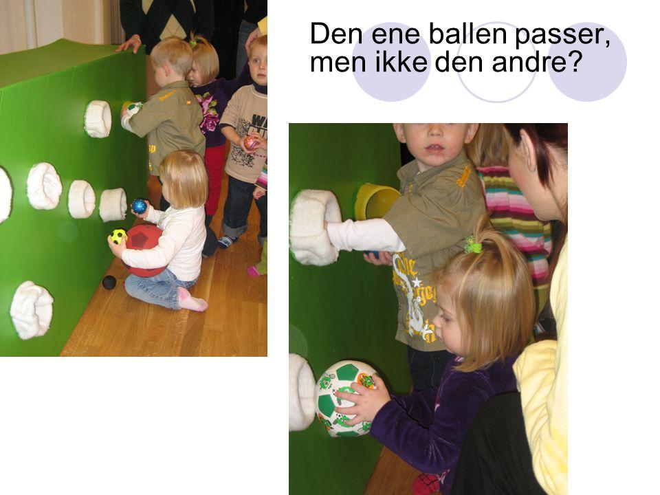 Den ene ballen passer, men ikke den andre