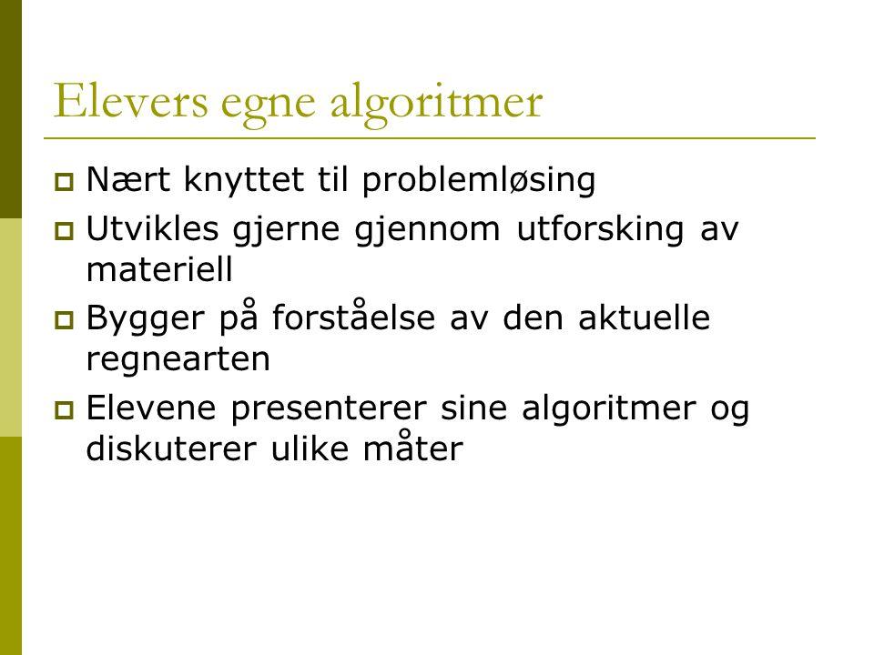 Elevers egne algoritmer
