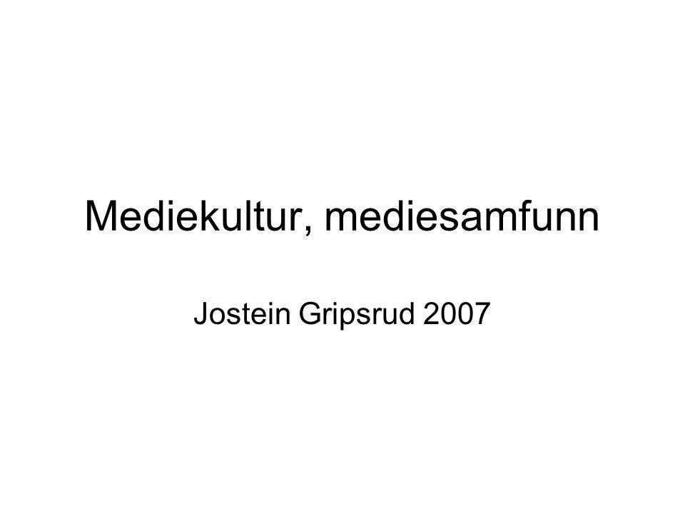 Mediekultur, mediesamfunn