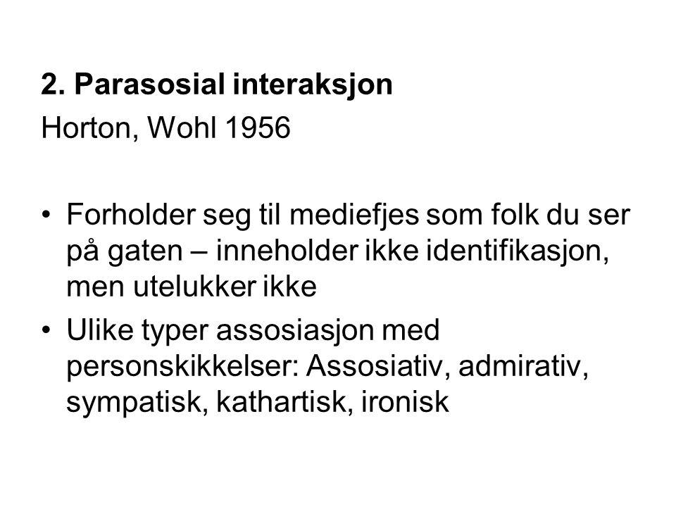2. Parasosial interaksjon