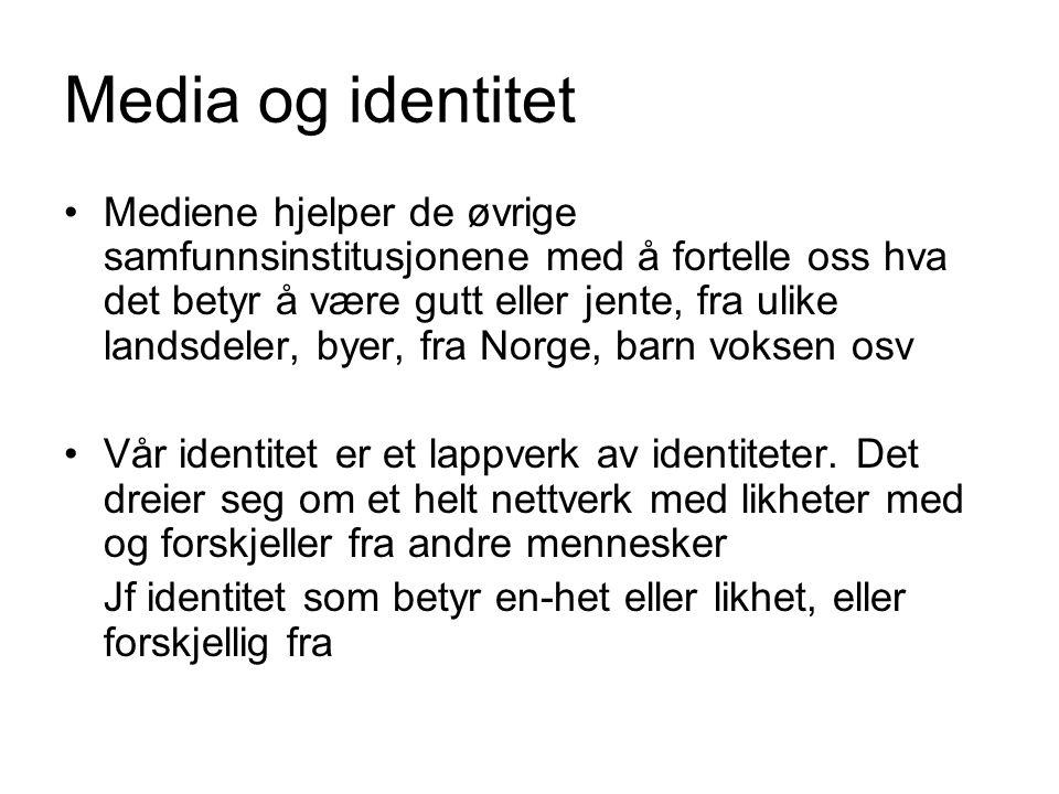 Media og identitet