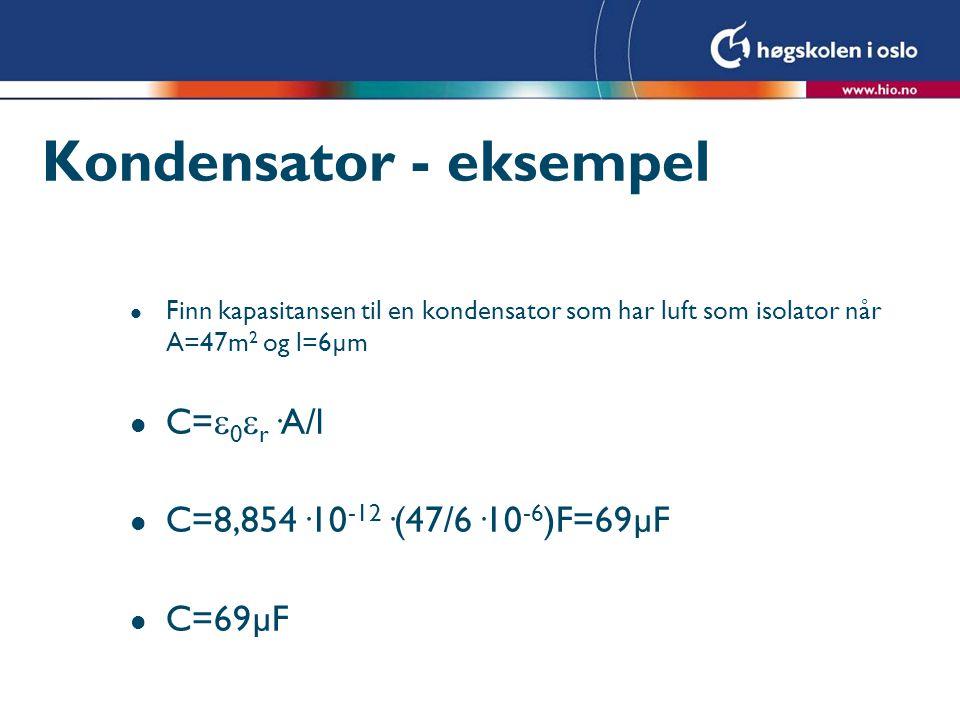 Kondensator - eksempel