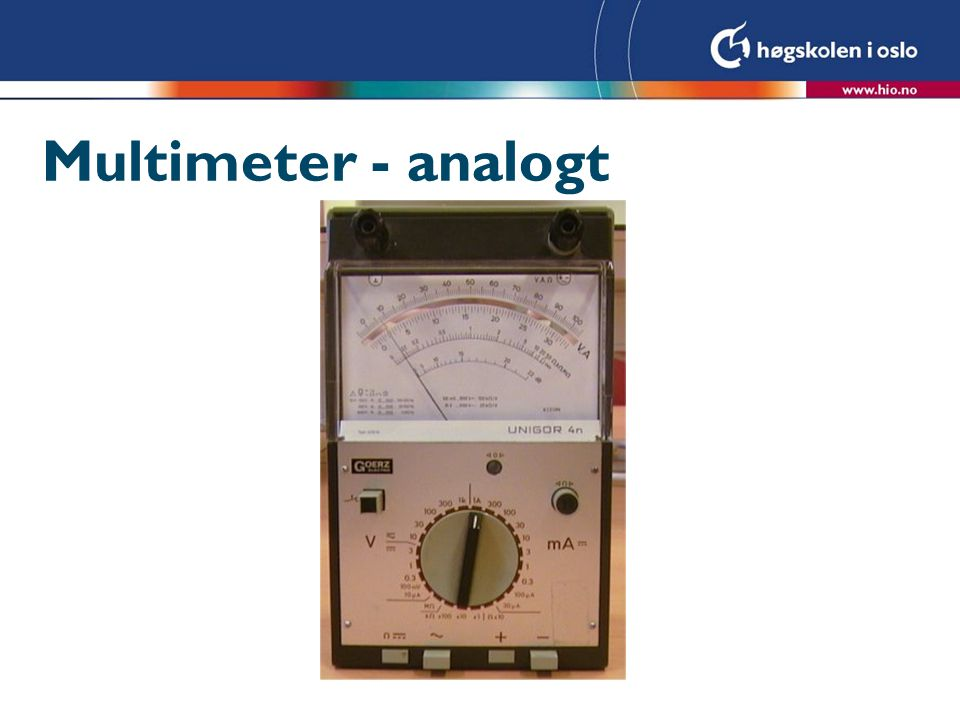 Multimeter - analogt