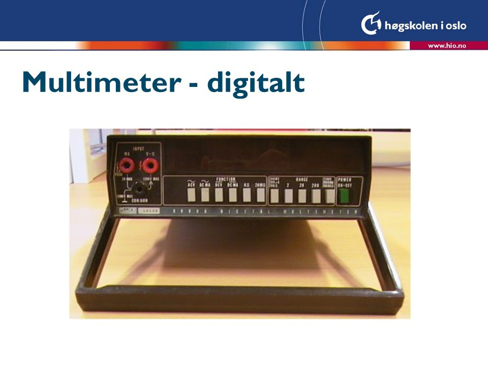 Multimeter - digitalt