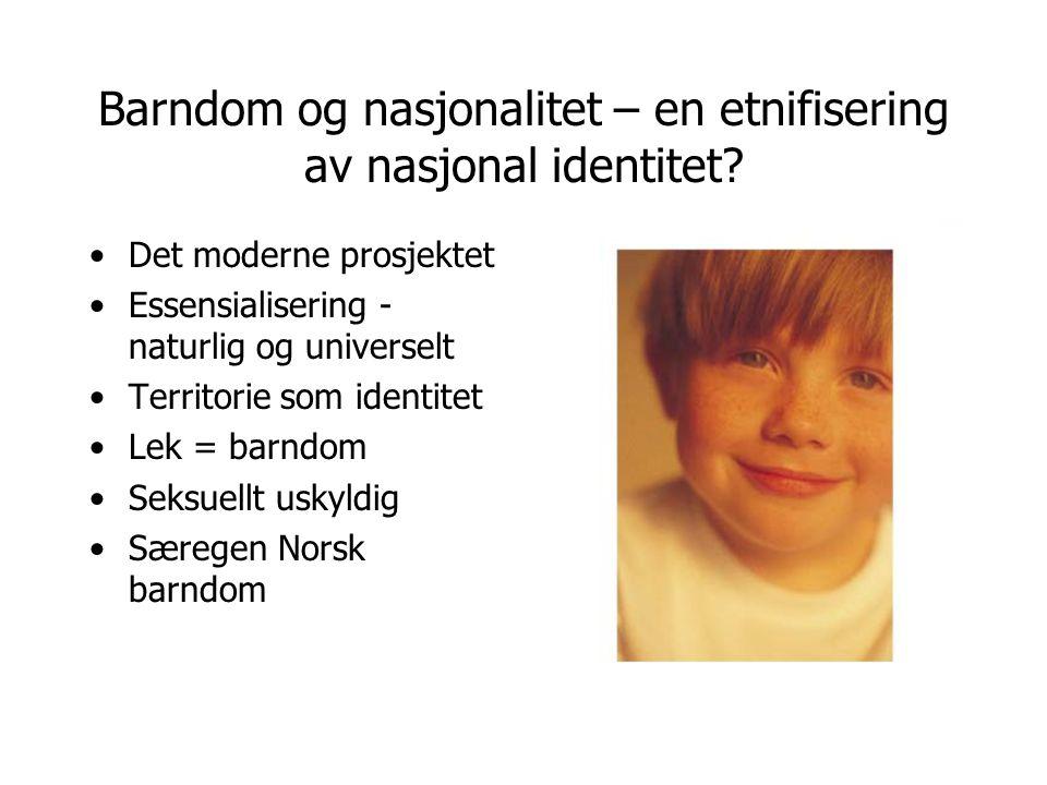 Barndom og nasjonalitet – en etnifisering av nasjonal identitet