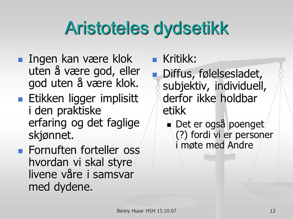 Aristoteles dydsetikk