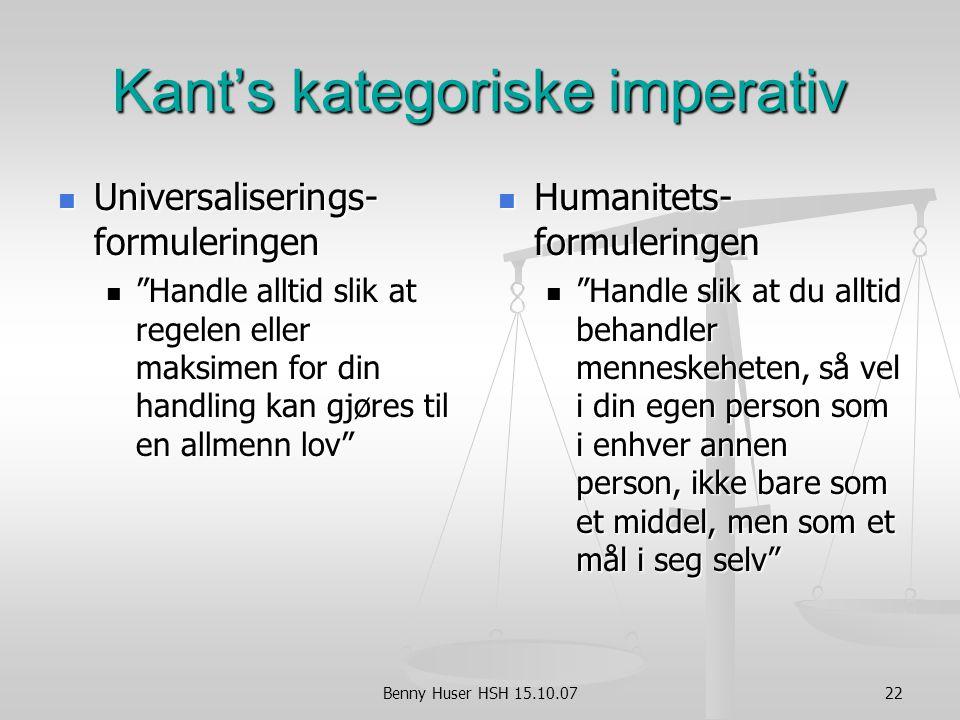 Kant's kategoriske imperativ