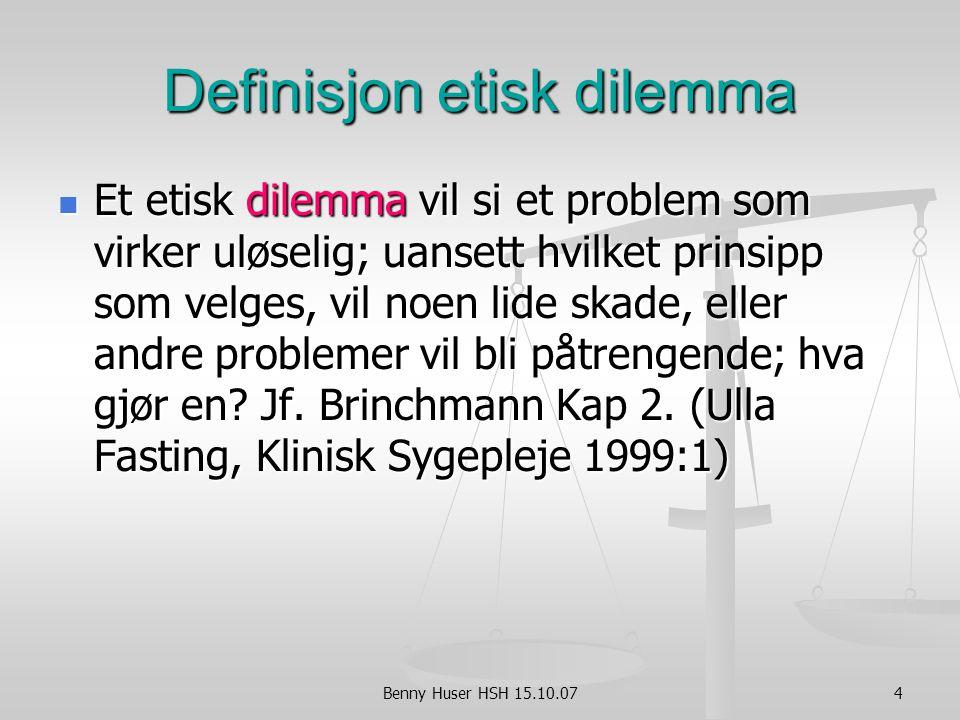 Definisjon etisk dilemma