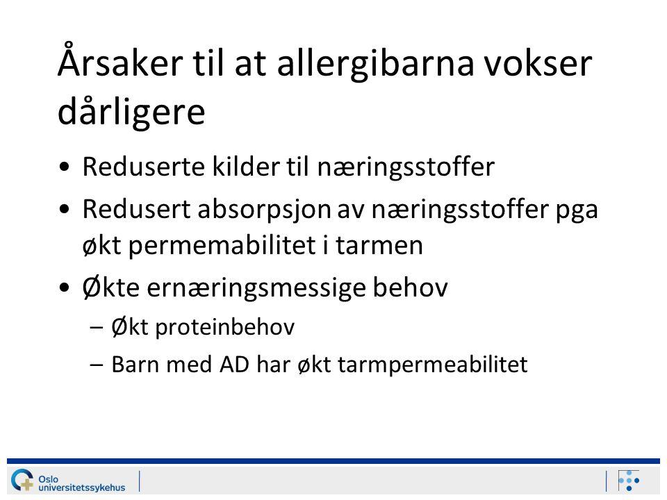 Årsaker til at allergibarna vokser dårligere