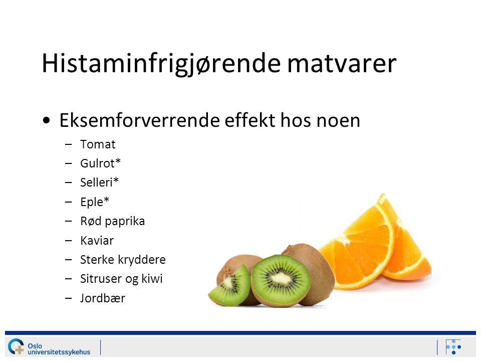 Histaminfrigjørende matvarer