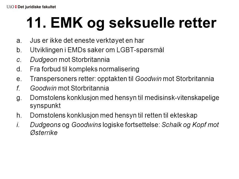 11. EMK og seksuelle retter