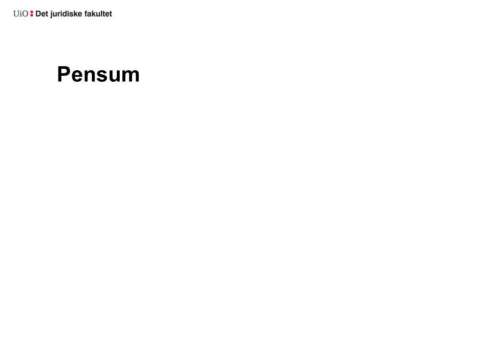 Pensum