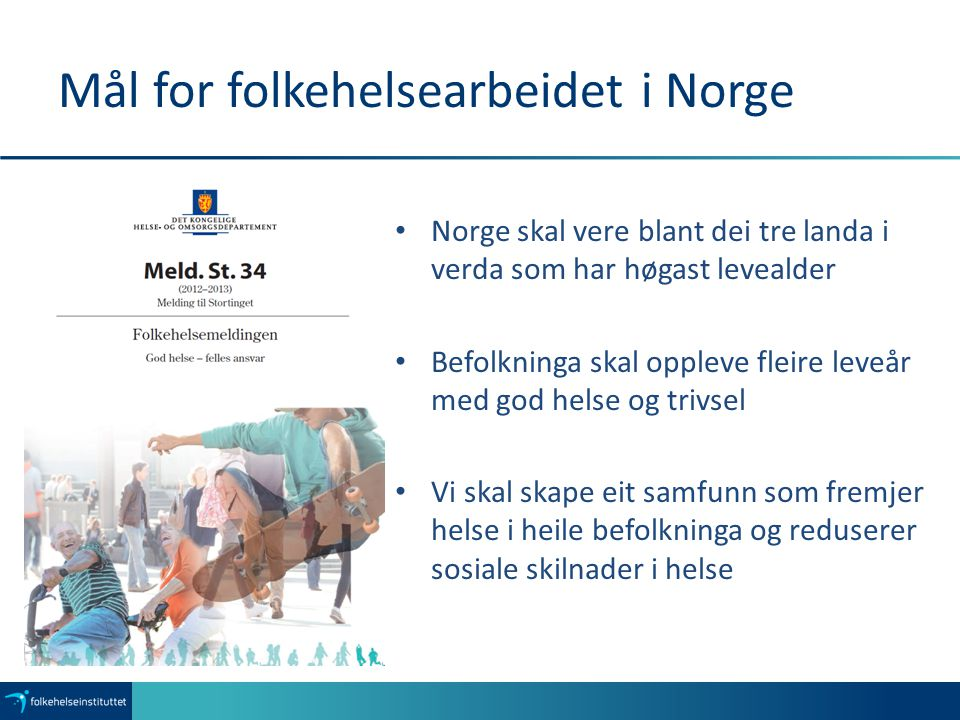 Mål for folkehelsearbeidet i Norge