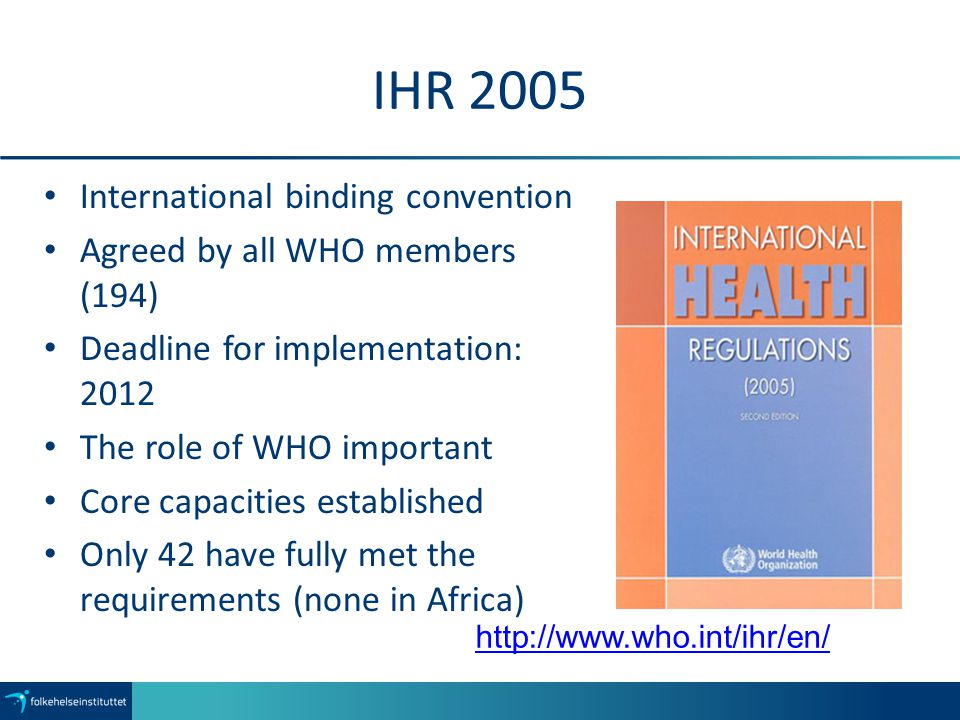 IHR 2005 International binding convention
