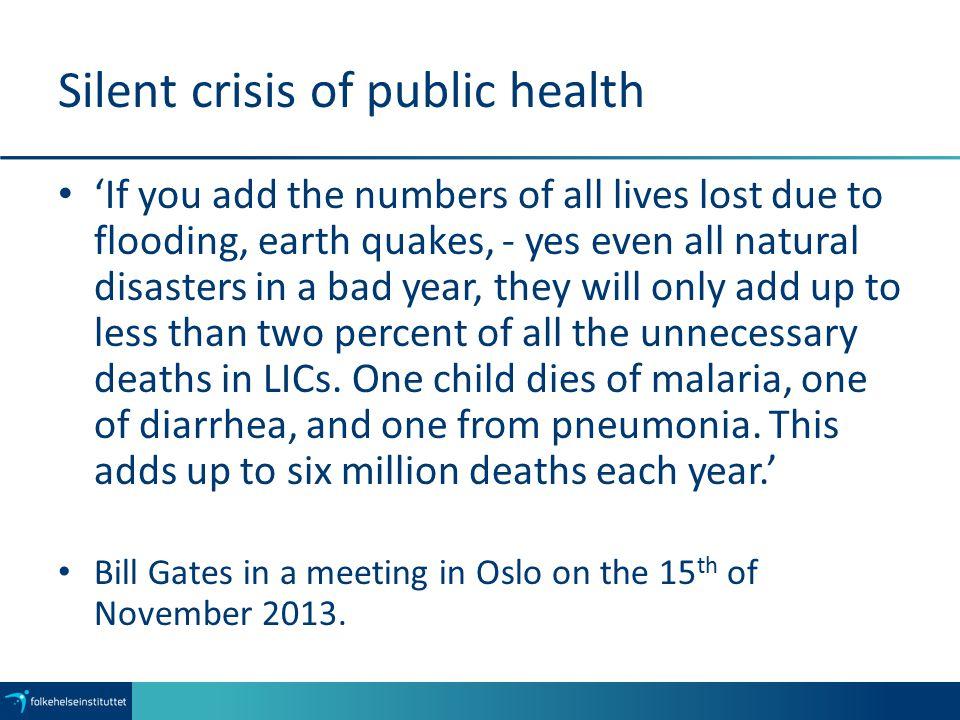Silent crisis of public health