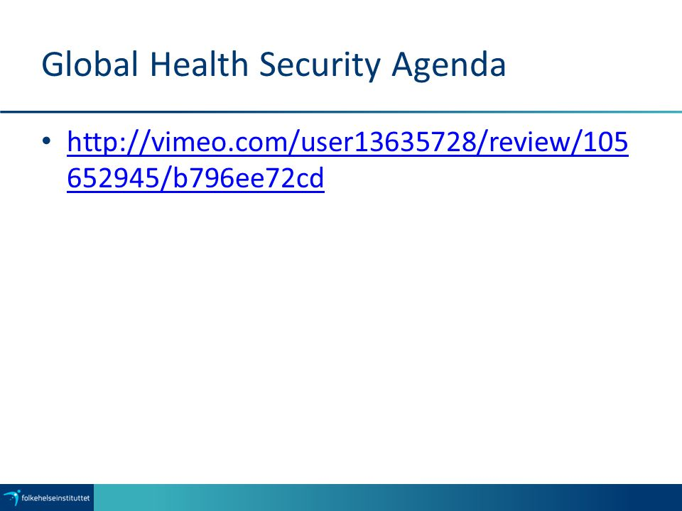 Global Health Security Agenda