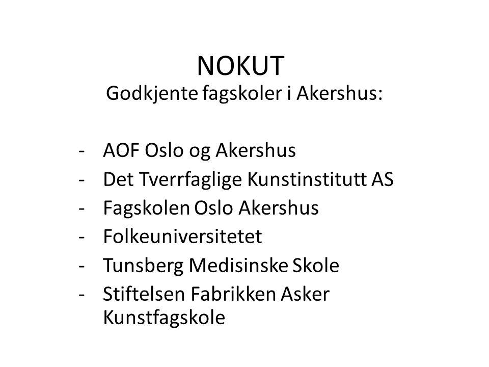 Godkjente fagskoler i Akershus: