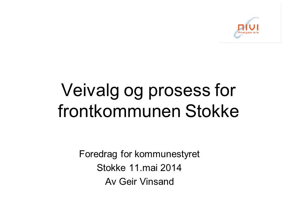 Veivalg og prosess for frontkommunen Stokke