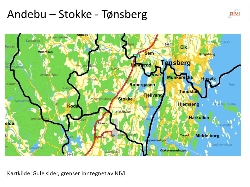 Andebu – Stokke - Tønsberg